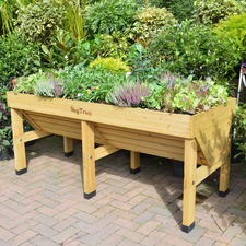 VegTrug 1.8m Natural with Frame & 3 Covers