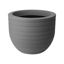 40cm Allure Ribbon Mineral Pot - Clay Coloured x 2
