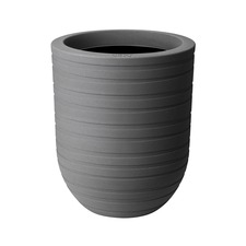 43cm Allure Ribbon Mineral Pot - Clay Coloured x 2