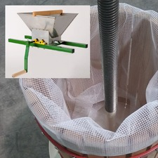18 litre Fruit Press inc Pulp bag, Spare Pulp Bag for 18 litre, Fruit Mill Crank Handle - 598810
