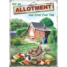 Allotment Metal Sign