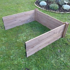 CLASSIC WOODEN RAISED BED extra module, 2 posts/6 planks WOCE