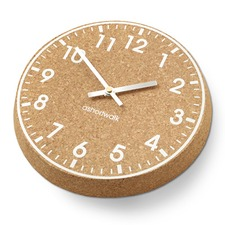 CHUNKY CORK CLOCK, white face with silver hands CCWS