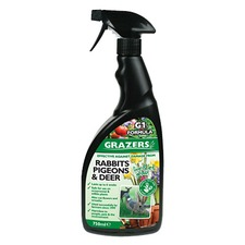 GRAZERS G1 Rabbits, Pigeons and Deer Repellent, 750ml RTU spray GRAR1