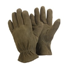 LADIES WASHABLE LEATHER GLOVES Medium, Olive Green GAGG7
