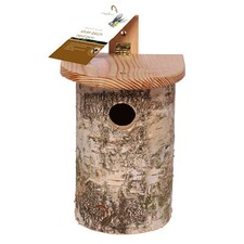 NEST BOX SILVER BIRCH LOG NBSB