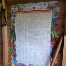 ORGANIC VEGETABLE GROWING GUIDE WALLCHART Michael Littlewood BKOV