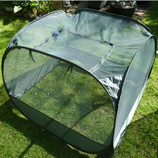 POP-UP NET CAGE, zipped panel entry, Low 75cm PUNC1