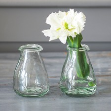 RECYCLED GLASS Bud Vases, pack 2 RVBU