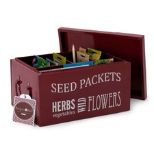 SEED PACKET ORGANISER, Burgundy BXSO