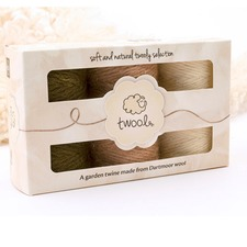 TWOOL GARDEN TWINE GIFT TRIO 'Soft and Natural'