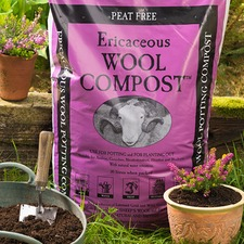 WOOL COMPOST ERICACEOUS, 30 litres WOEC