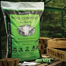 WOOL COMPOST FOR SEEDS, 12 litres x 3 bags WOSC3