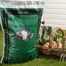 WOOL COMPOST FOR VEGETABLES & SALADS, 30 litres
